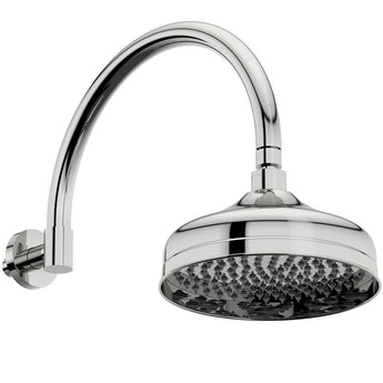 The Bath Co. Barrington traditional shower head with traditional wall arm