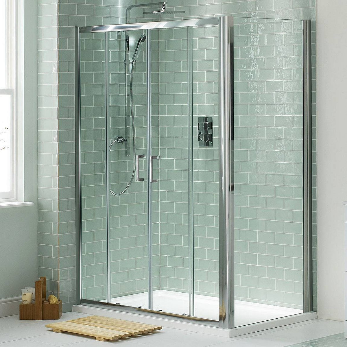 6mm Sliding Double Door Shower Enclosure