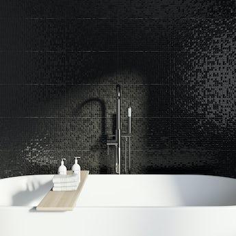 Studio Conran hartland black pressed mosaic tile 248mm x 398mm