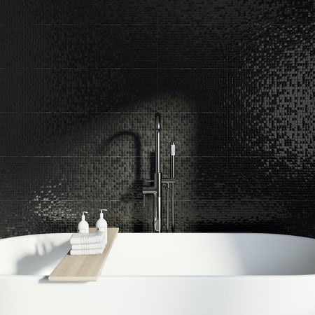 Studio Conran Hartland Black Pressed Mosaic Tile 248mm X