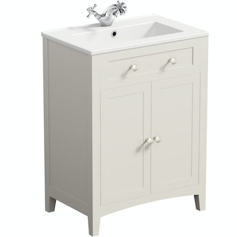 The Bath Co. Camberley ivory vanity unit with basin 600mm