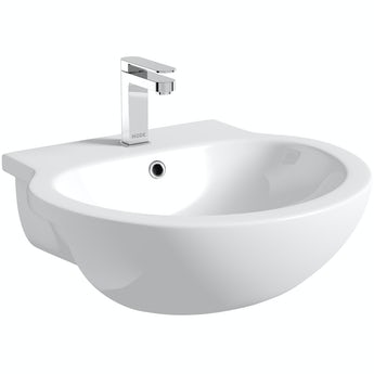 Maine Florence 1 tap hole semi recessed countertop basin 545mm
