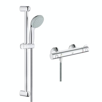Grohe Grohtherm 800 thermostatic shower set with slider rail kit