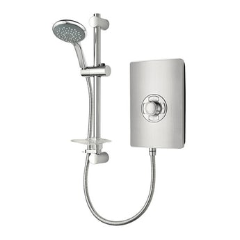Triton Aspirante 8.5kw electric shower brushed steel