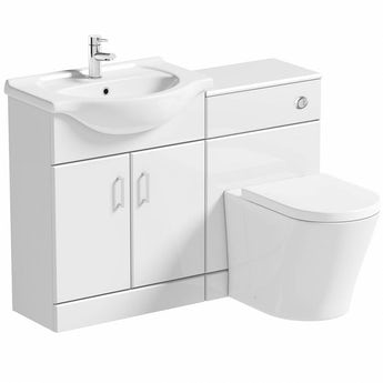 Sienna white 1140 combination with Arte back to wall toilet