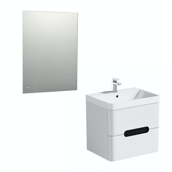 Mode Planet select essen wall hung vanity unit 600mm and mirror offer