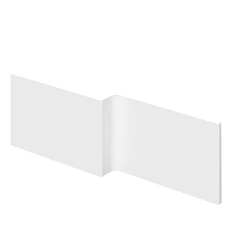 acrylic l shaped shower bath panel 1500mm victoriaplum com aquila bathroom suite left 1500mm l shaped shower bath