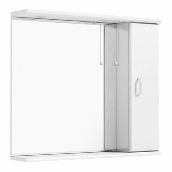 Granada white bathroom mirror with lights 850mm