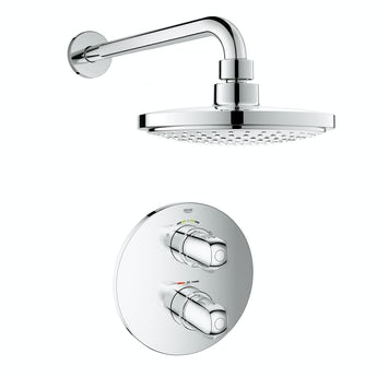 Grohe Grohtherm 1000 concealed thermostatic shower set with wall arm
