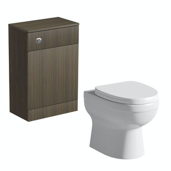 Arden walnut back to wall toilet unit with Energy back to wall toilet