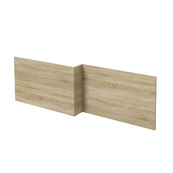 Arden oak boston square shower bath front panel 1700mm