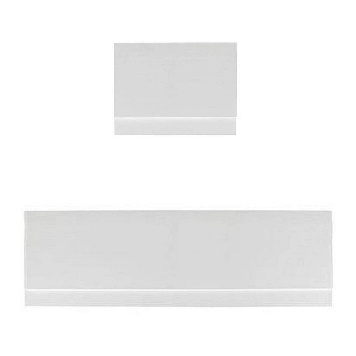 Gloss White Straight Bath Panel Pack 1700 X 750 VictoriaPlum.com. Full resolution  photograph, nominally Width 1149 Height 1149 pixels, photograph with #666666.