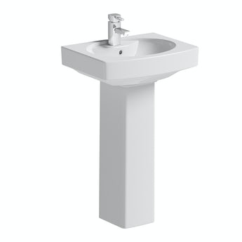 Vermont 1 tap hole full pedestal basin 555mm