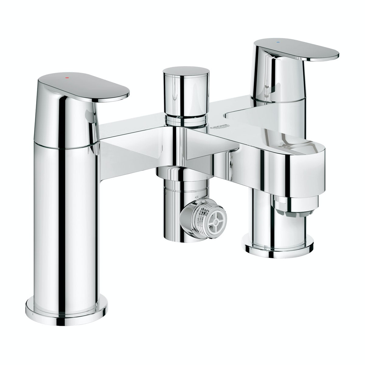 grohe eurosmart cosmopolitan bath shower mixer tap grohe chiara chrome thermostatic wall mounted bath shower