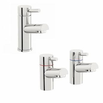 Matrix basin mixer and bath tap pack
