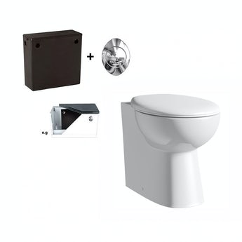 Clarity back to wall toilet with seat and concealed cistern