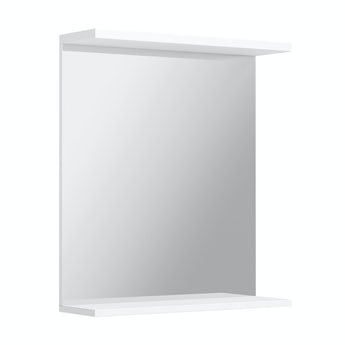 Florence white bathroom mirror 650mm