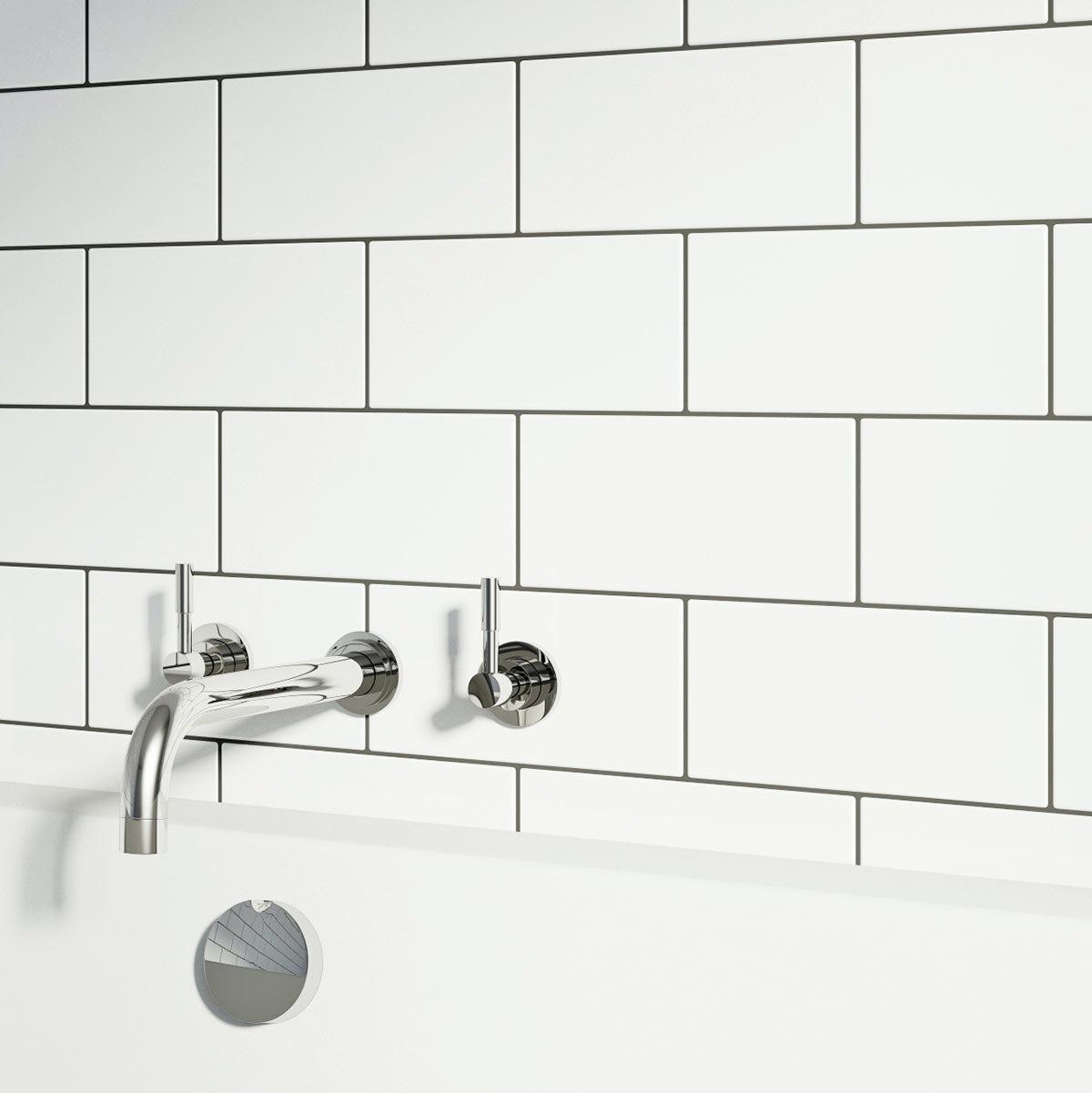 Metro White Gloss Tile 100mm X 200mm Victoriaplum Com
