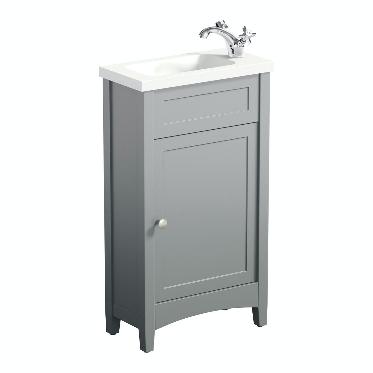 The Bath Co Camberley Grey Cloakroom Vanity With Resin