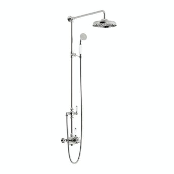 Traditional rain can shower head riser shower system