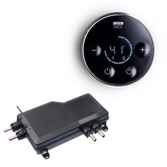 Mira Platinum dual digital shower valve and controller pumped