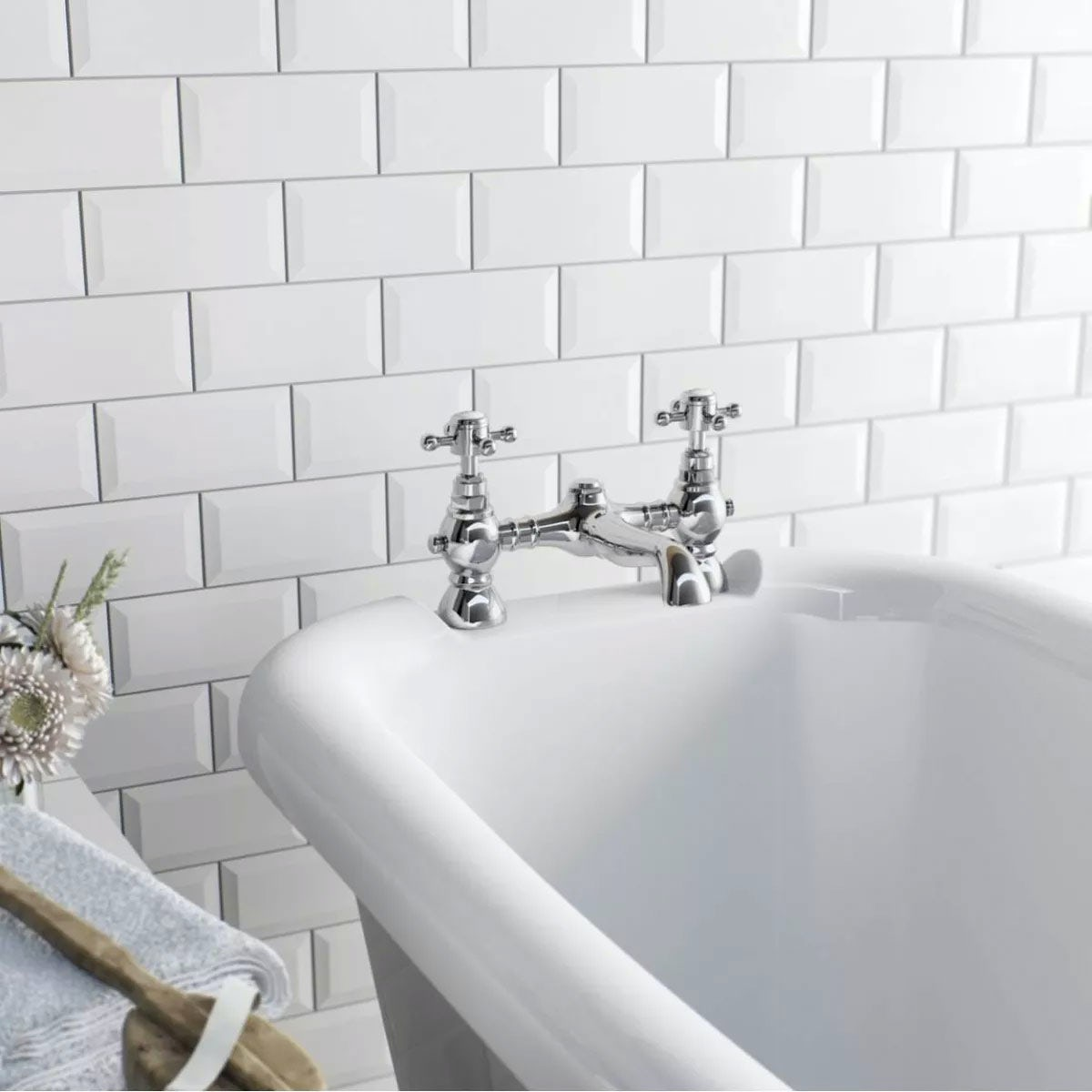Metro White Bevel Gloss Tile 100mm X 200mm Victoriaplum Com