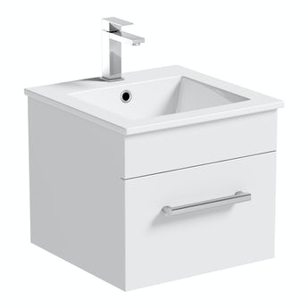 Chamonix wall hung cloakroom vanity unit 420mm