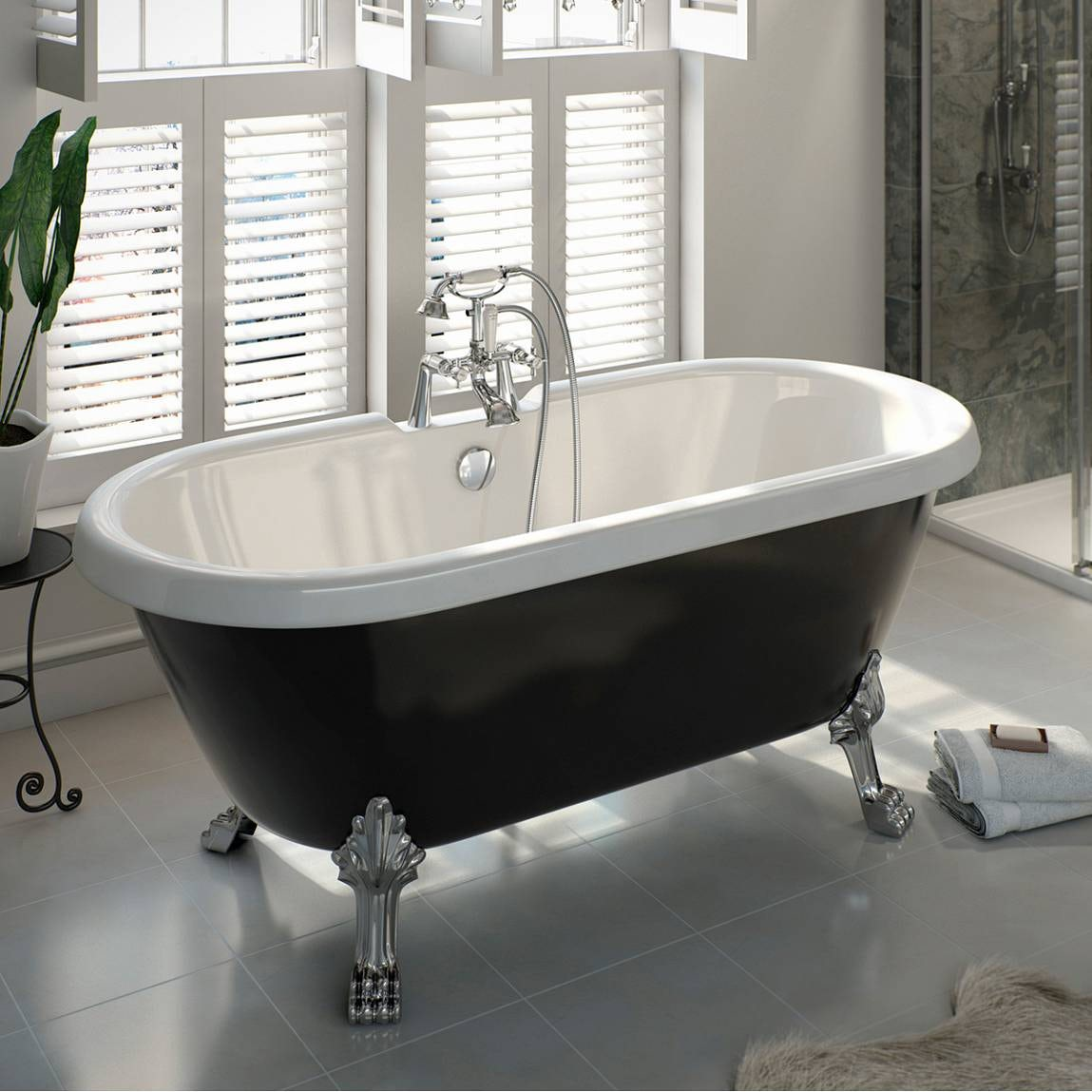 The bath co shakespeare traditional roll top bath with for Roll top bathroom ideas