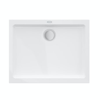 Jacuzzi Essentials matt white acrylic shower tray 1000 x 800