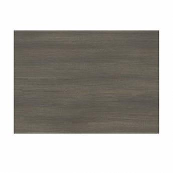 L shaped shower bath wooden end panel Drift walnut 700mm